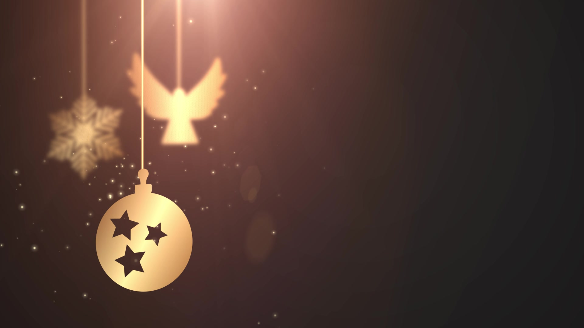 animated moving bauble ball falling down christmas new year festive seasonal celebration placeholder black background free hd video clips stock video