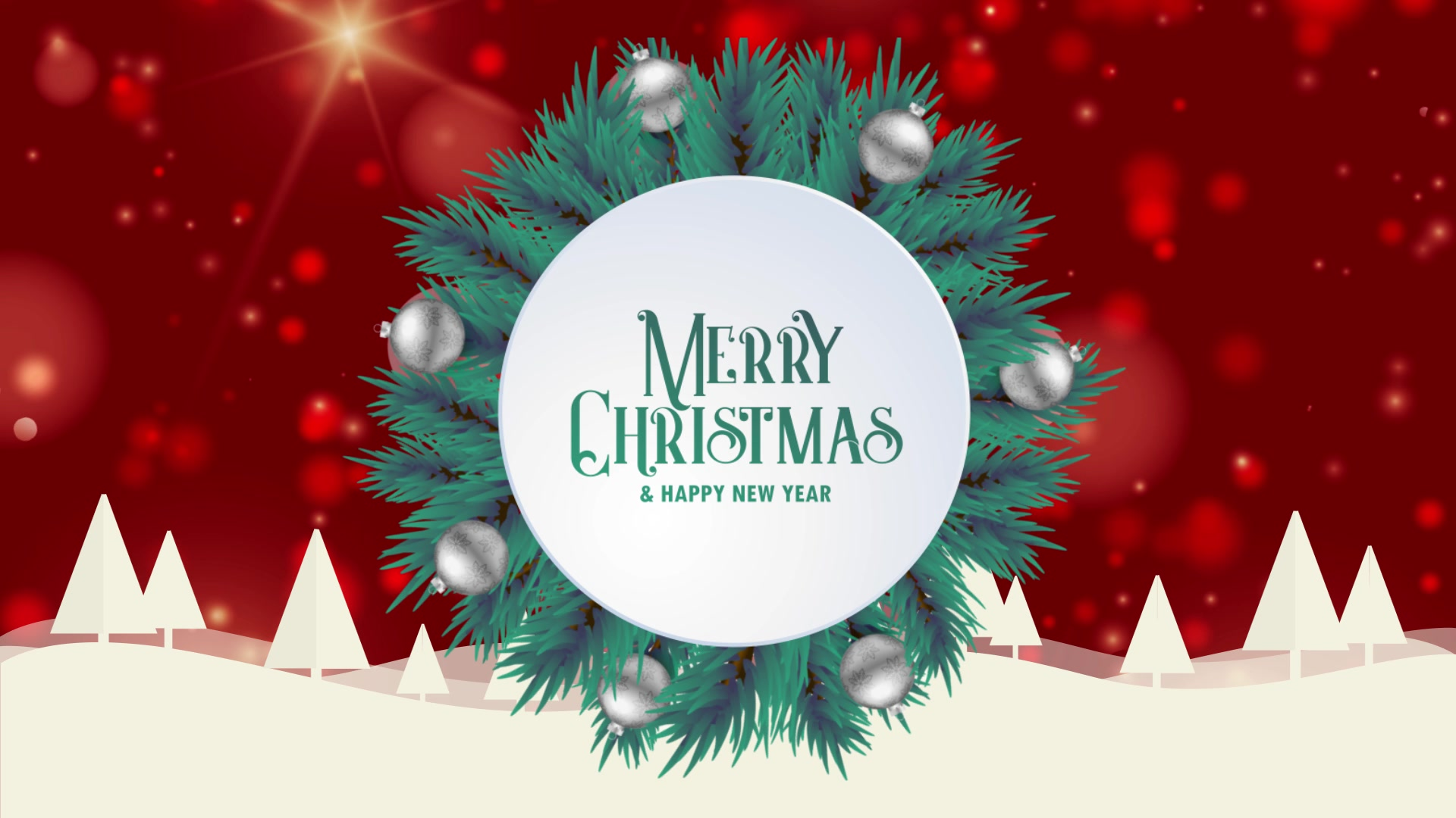 merry christmas greeting card animation red bokeh background trees snow free hd video clips stock video footage at videezy