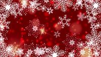 beautiful snowflakes rotating on a red background lens flare bokeh