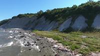 Kustlandschap in Kap Arkona op het eiland Baltische Zee van Rügen