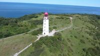 lighthouse dornbusch at hiddensee island