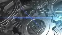 concepto de negocio girando engranajes mecánico mecánico máquina
