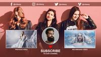 Youtube Channel End Screen AE Template 14