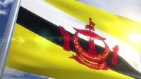 Wehende Flagge von Brunei Animation
