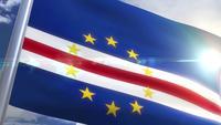 Wapperende vlag van Kaapverdië Animatie