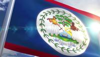 Agitant le drapeau du Belize Animation