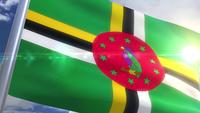 Waving flag of Dominica Animation