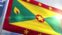 Waving flag of Grenada Animation