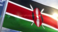 Waving flag of Kenya Animation