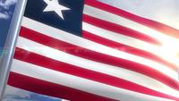Waving flag of Liberia Animation