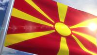 Waving flag of Macedonia Animation