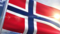 Wehende Flagge von Norwegen Animation