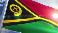Waving flag of Vanuatu Animation