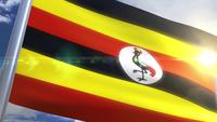 Waving flag of Uganda Animation