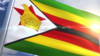 Waving flag of Zimbabwe Animation