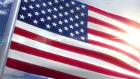 Waving flag of USA US Animation
