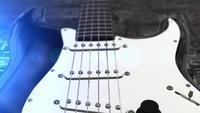 Animación de la guitarra eléctrica 3D.