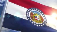 Waving flag of the state of Missouri USA