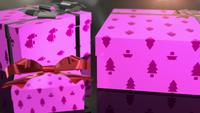 christmas birthday pink gift animation