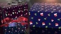 christmas birthday blue gift animation