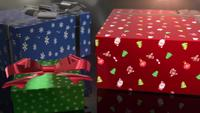 christmas birthday blue red and green gift animation