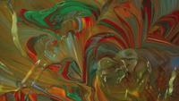 Mélange avec de petites vagues de peinture déplacées par le vent