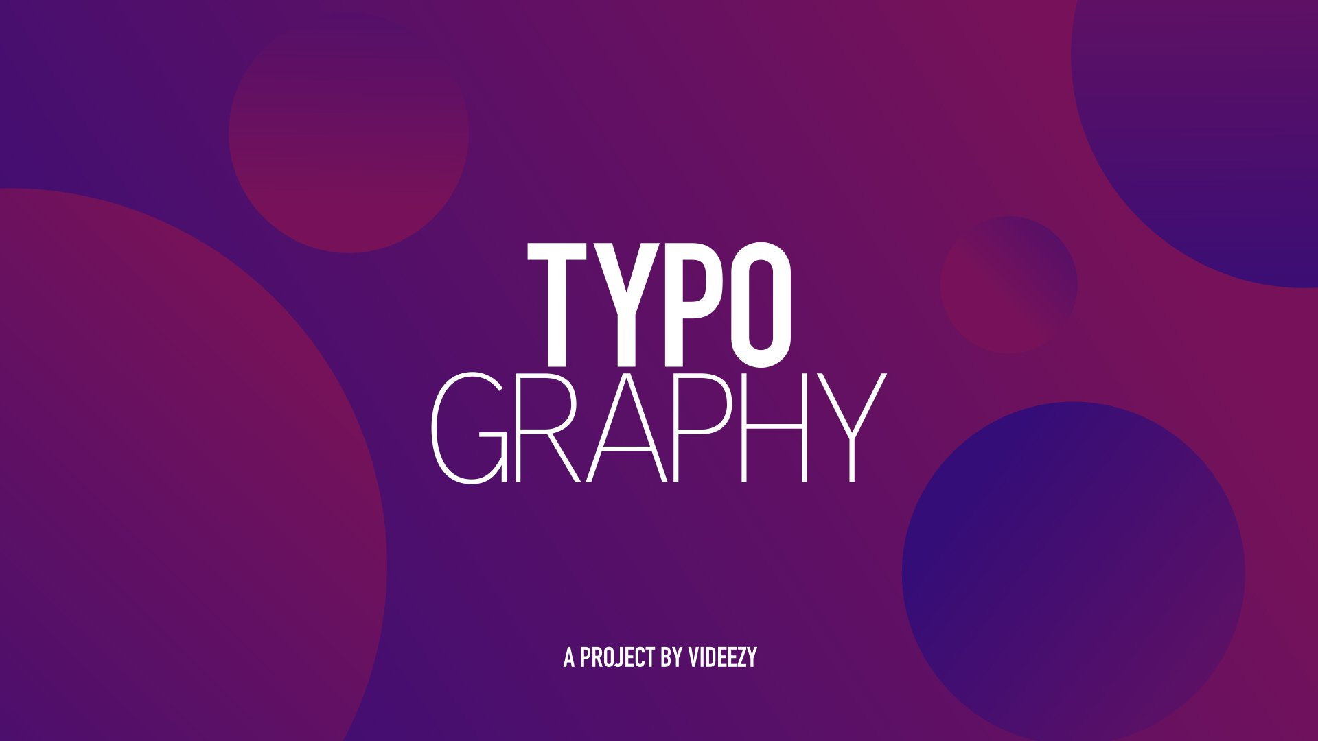 Modern Typography Titles After Effects Template 01 - Free HD