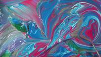 Mélange de peintures roses bleues et blanches
