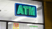 Neon Sign Of ATM Service In Chicago