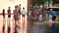 Childs Walking In Crown Fountain I Chicago
