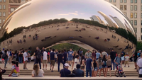 People Taking Pictures Of The Bean In Chicago