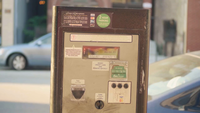Electronic Parking Meter With Digital Display In Chicago