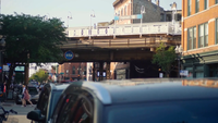 Footbridge And Elevated Train Track Of Damen Station In Chicago