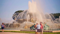 Buckingham Memorial Fountain In Grant Park Chicago
