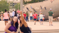 People Taking Selfies Of The Bean In Chicago