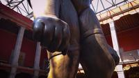 Hand van het vrouwelijke reusachtige beeldhouwwerk in het Jose Luis Cuevas-museum