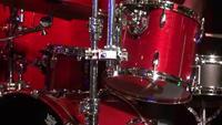 Drummer man drummen - Close up van drummen man