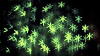 Green Asterisk Bokeh Lights