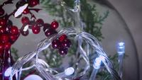 Close Up Christmas Decoration And lights In Sphere