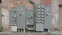 Handheld Clip Of Energy Meters In Alleys Of Georgia