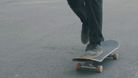 Medium Shot Of Man Practicing Skateboard Tricks