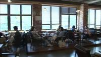 Panorama of a cafeteria