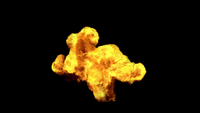 VFX Medium Cloud Explosion d'incendie qui surgit du sol
