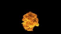VFX Fast Cloud Fire Explosion That Surge From The Ground