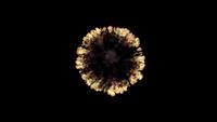 VFX-Draufsicht-Ring-Feuerexplosion mit Rauch