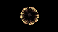 VFX Top View Ring Fire Explosion With Smoke