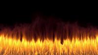 VFX-vlammuur die van de grond overspant
