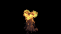 VFX Small Mushroom Fire Explosion That Surge From The Ground