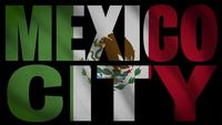 Mexico Flagga med Mexico City Mask