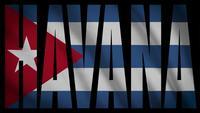 Bandera De Cuba Con Máscara De La Habana